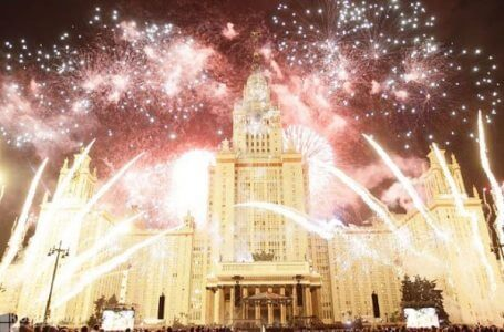 Moscow. Fireworks.